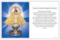 Imagen para imprimir de la oración para pedir una gracia a la Santísima Virgen de la Caridad