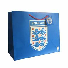 Officially Licensed England Large Gift Bag In Blue - Perfect For World Cup Office Branding, Large Gift Bags, World Cup 2014, England, Gifts, Blue, Presents, English, Gifs