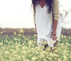 Simple white summer dress and pretty cardigan. LOVE