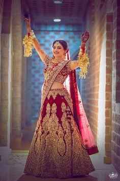 "The Videowala ""Lakshya and Aastha""Weddig Bridal Lehenga - Bride in Amazing Saree Gown. More information on WeddingNet #weddingnet #indianwedding #indianbride #indianwedding #bridallehenga #lehenga #pink #gold #beige #weddinglehenga #weddingsaree #bride #gown"