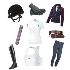 A fashion look from June 2013 featuring polo collar shirts, zipper jacket and racerback sports bra. Browse and shop related looks. Equestrian Clothes, Equestrian Fashion, Equestrian Style, Clothes Horse, Tack Trunk, Riding Quotes, Riding Outfits, Horse Gear, Horse Stuff