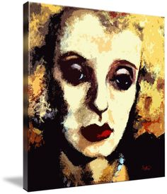 Bette Davis Original Art by Ginette by Ginette Callaway