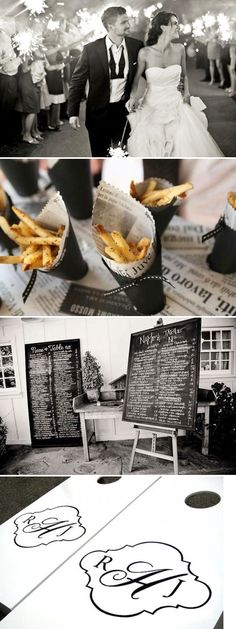 FRENCH FRIES IN A PAPER CONE! Exactly what I want as an app for our wedding