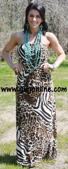 SALE Let's go on a Safari Maxi Dress FINAL $27.93 www.gugonline.com