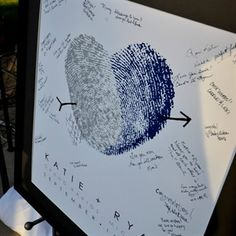 Guest book idea with our fingerprints
