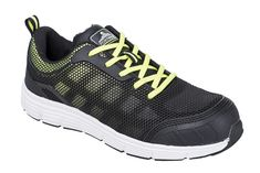 5a3324a95a Portwest Steelite Tove Trainer védőcipő S1P - fekete / zöld Safety, Adidas  Sneakers, Mesh