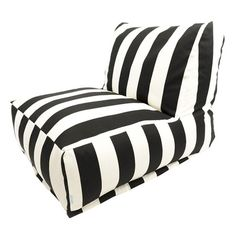 111. Patterned indoor/outdoor lounger with a recycled fill. Made in the USA.      Product: LoungerConstruction Material: