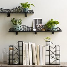 These shelves will have everyone believing that you have the chicest apartment on the block.