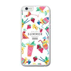 Enjoy Summer Cocktails iPhone 6/6S Hard Case (4.7 Inch) iPhone 6/6S... ($20) ❤ liked on Polyvore featuring accessories and tech accessories