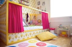 51 Cool Ikea Kura Beds Ideas For Your Kids Rooms. The Ikea beds are elegant furniture among the many product lines found at the Ikea stores in different countries. Kura Bed Hack, Ikea Kura Hack, Ikea Hacks, Ikea Hack Lit, Casa Kids, Ideas Dormitorios, Little Girl Rooms, How To Make Bed, Kid Spaces