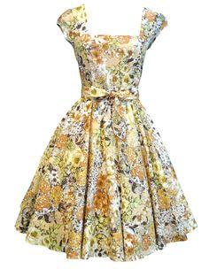 Lady V London Honey Summer Floral Swing Dress