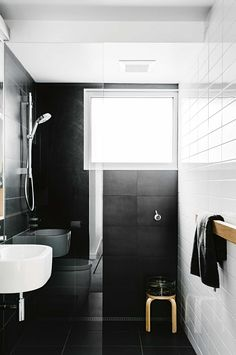 Top 10 black and white bathrooms. Styling by Megan Morton. Photography by Brooke Holm.