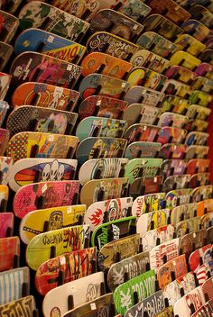 Wave of boards