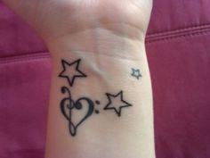 Corazón de Notas Musicales y Estrellas