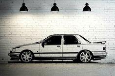 FORD SIERRA SAPPHIRE COSWORTH CAR - WALL ART STICKER