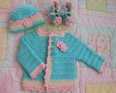 baby sweater, baby girl sweater, baby crochet sweater girl, baby girl gift, crochet baby sweater set, baby girl cardigan baby 0 to 3 months