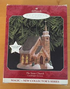 The Stone Church Candlelight Service Hallmark Keepsake Ornament 1998 | eBay