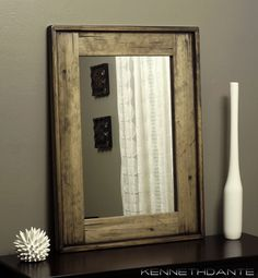 Framed Bathroom Mirrors Rustic distressed white framed mirror | modern rustic home | pinterest