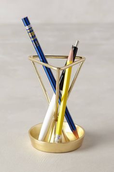 Angled Heirloom Pencil Holder - anthropologie.com