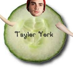 This is what i make when i get bored. Stay tuned for Taylor York as a carrot. And next week we will turn Taylor York into a french fry.