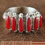Native American Silver And Coral Ring