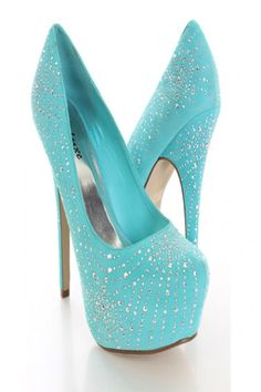 Mint Beaded Pump Heels..!! #jewelexi #heels