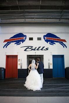 Buffalo Bills Wedding at Ralph Wilson Stadium