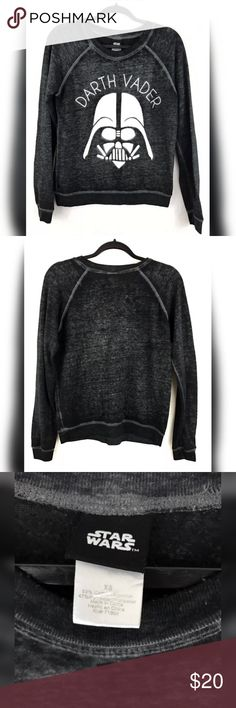 """Star Wars Darth Vader Sweater Pre-owned in great condition  Measurements laying flat Bust 18.5"""" Length 24"""" Sleeve length 28"""" Star Wars Sweaters"""