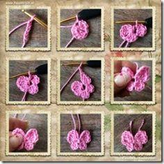 Best 12 Crochet butterfly pattern by bautawitch – Page 537687642985612141 Diy Crafts Crochet, Crochet Bows, Crochet Bunny, Easy Crochet, Crochet Projects, Tutorial Crochet, Crochet Butterfly Free Pattern, Crochet Flower Patterns, Crochet Motif