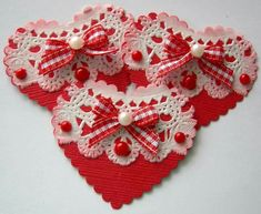 HEART EMBELLISHMENTS Valentine Day Crafts, Love Valentines, Heart Crafts, Candy Cards, Saint Valentine, Scrapbook Embellishments, Decoration, Crafting, Handmade