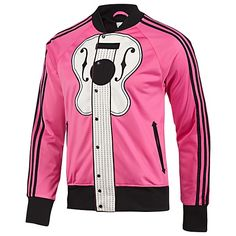 Who is this Jeremy Scott character?? I'll wear these with the high top cowboy boots - adidas Jeremy Scott Guitar Track Top