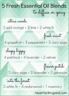 5 essential oils blends for spring!