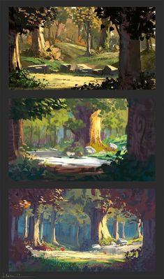 50 Ideas landscape concept art tutorial design illustrations for 2020 Digital Painting Tutorials, Digital Art Tutorial, Art Tutorials, Concept Art Tutorial, Digital Paintings, Landscape Concept, Fantasy Landscape, Landscape Art, Forest Landscape