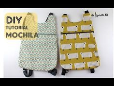 Pizpiretta: DIY Tutorial: Mochila Básica (fácil y rápida) Small Sewing Projects, Sewing For Kids, Sewing Hacks, Sewing Tutorials, Sewing Patterns, Backpack Tutorial, Backpack Pattern, Mochila Tutorial, Diy Bags Purses