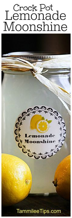 Easy to make and so delicious Crock Pot Lemonade Moonshine Recipe perfect for summer parties, barbecues, or as a DIY Birthday gift. Easy to make and so delicious flavored Slow Cooker Crock Pot Lemonade Moonshine Recipe perfect for Party Drinks, Cocktail Drinks, Fun Drinks, Alcoholic Drinks, Cocktails, Liquor Drinks, Party Party, Cold Drinks, Cocktail Recipes
