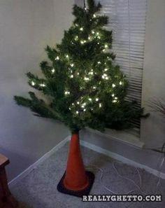 really ghetto christmas tree christmas tree stands little christmas trees tacky christmas diy - Redneck Christmas Ideas