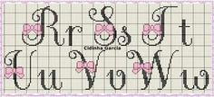 Cross Stitch Baby, Cross Stitch Alphabet, Cross Stitch Patterns, Abc Letra, Crochet Letters, Font Names, Stitch 2, Letters And Numbers, Embroidery