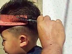 """CORTE De CABELO Para Homens """"Moicano infantil"""" O Ninja Do Cabelo"""
