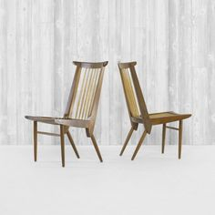 Origins dining chairs model 259-W by George Nakashima