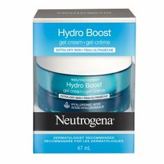 Neutrogena Hydro Boost Gel Cream Extra Dry, $19.99 - Lotion that contains hyaluronic acid