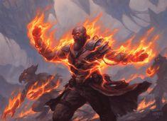 Firemantle Mage - Battle for Zendikar MtG Art