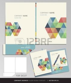 Corporate Identity Business Set  Folder Design Template  Vector illustration