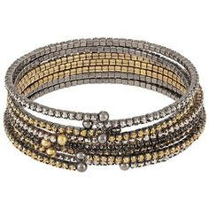 A.B.S. By Allen Schwartz Rhinestone Accented Bangle Set