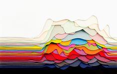Слоенные пейзажи из цветной бумаги от Maud Vantours (Интернет-журнал ETODAY)