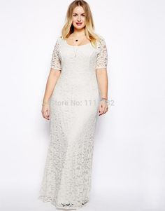 Cheap lace gold, Buy Quality dress number directly from China lace princess wedding dresses Suppliers: Uk Womens vestidos Plus Size Dress 2016 Fashion Big Sizes Sexy Backless White Lace Maxi Long Dress To The Floor Dress Plus Size, Plus Size Maxi Dresses, Sexy Dresses, Plus Size Outfits, Casual Dresses, Lace Dresses, Party Dresses, Summer Dresses, Dress Lace