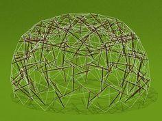 Tensegrity, architecture and Buckminster Fuller Buckminster Fuller, Outdoor Sculpture, Homes, Design, Math, Sexy, Architecture, Geodesic Dome, Mathematics