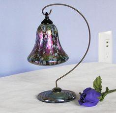 VINTAGE GLASS EYE STUDIO ART GLASS HANGING BELL PURPLE CARNIVAL COLOR in Studio/ Handcrafted Glass | eBay Studio Art, Shades Of Purple, Decorative Bells, Madness, Glass Art, Carnival, Eye, Vintage, Color