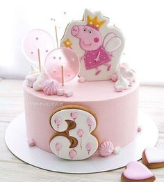 Tortas Peppa Pig, Bolo Da Peppa Pig, Cumple Peppa Pig, Peppa Pig Birthday Cake, Birthday Cake Girls, Peppa Pig Cakes, Girls 2nd Birthday Cake, Birthday Bash, Birthday Ideas