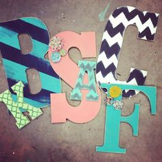 DIY Painted Letters but maybe more for an adult home?