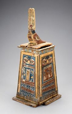 Wooden canopic chest in the shape of a shrine. Hellenistic Period (Ptolemaic Dynasty). 305–30 B.C. | Museum of Fine Arts, Boston